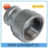 Black/Electric Galvanized Bsp / NPT Threaded / Screwed Malleable Iron Reducer Socket Banded
