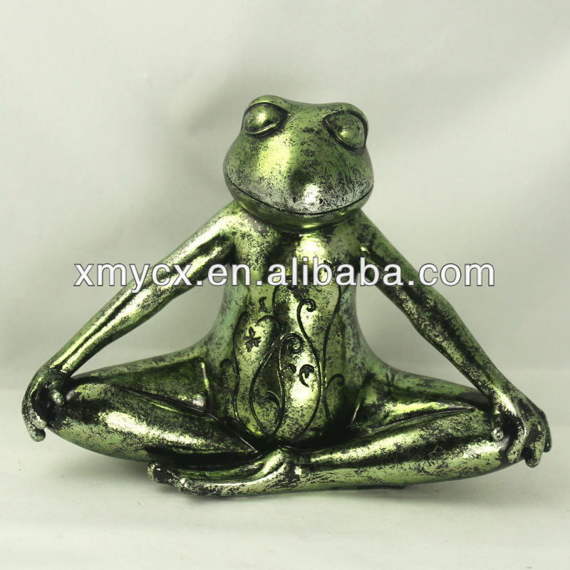 Resin garden yoga frog decoration