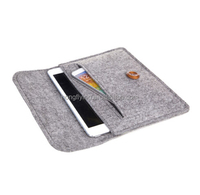 Grey Leather Belt Felt Sleeve Case Pouch Cover Bag for Android Tablet Ipad 10""