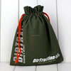 Custom promotional full color gift packaging cotton canvas drawstring bag