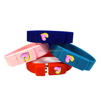 Custom logo silicone bracelet wristband usb flash drive for promotion