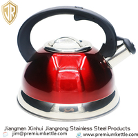 High quality colorful stainless steel whistling kettle 3L