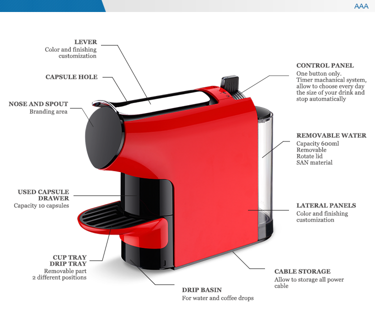 Nespresso Compatible Espresso Coffee Machine - Buy Espresso Coffee Machine,Capsule Coffee ...