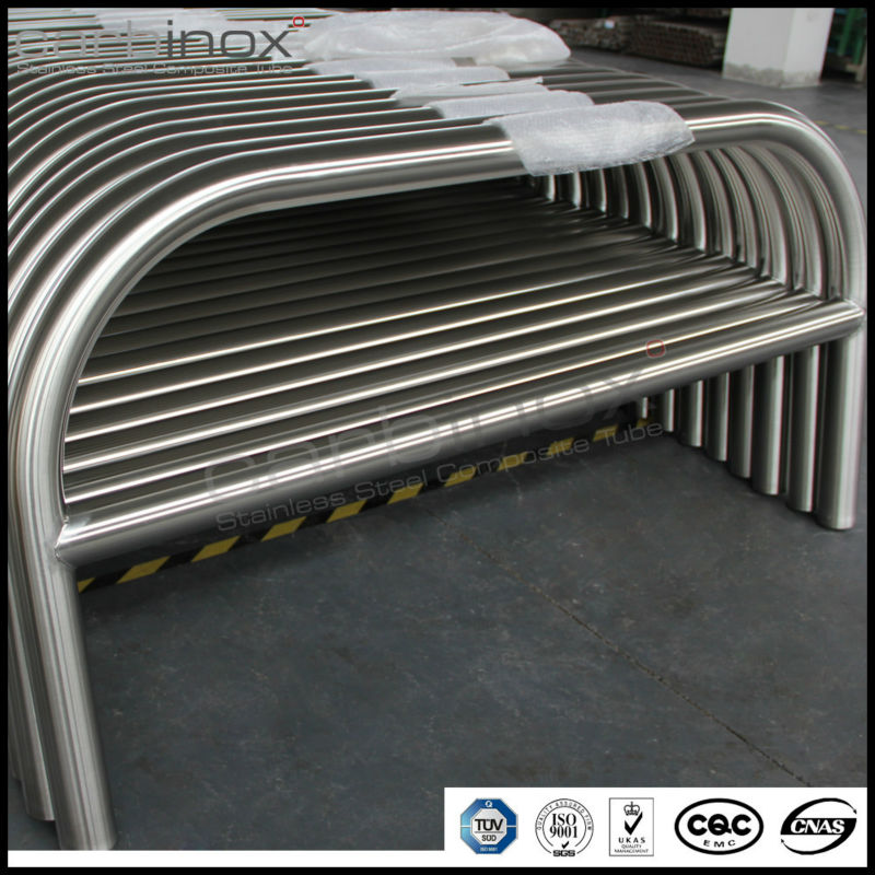 hooped perimeter barrier ,hotel car parking stainless steel 316grade bollard