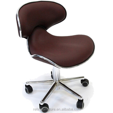 comfortable ergonomic chocolate nail spa pedicure chair pedicure stool RF-L001M