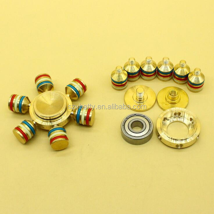 Copper spinner fidget toys 6 arms 608 bearing hand spinner