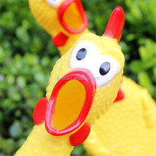 2017 Screaming Shrilling Yellow Rubber Chicken Baby Toys China Wholesale