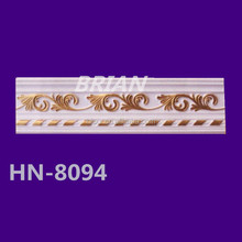 Elegant design PU carved corner crown mouldings in Haining