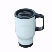 hot selling 16oz sublimation insulated coffee mug with handle and lid