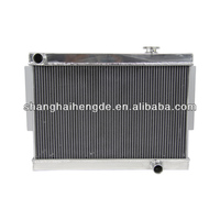 Full aluminum radiator For DODGE CHARGER PLYMOUTH HEMI 5.7 & 6.1 1968-1974 ONE INCH ROWS radiator fan 12v