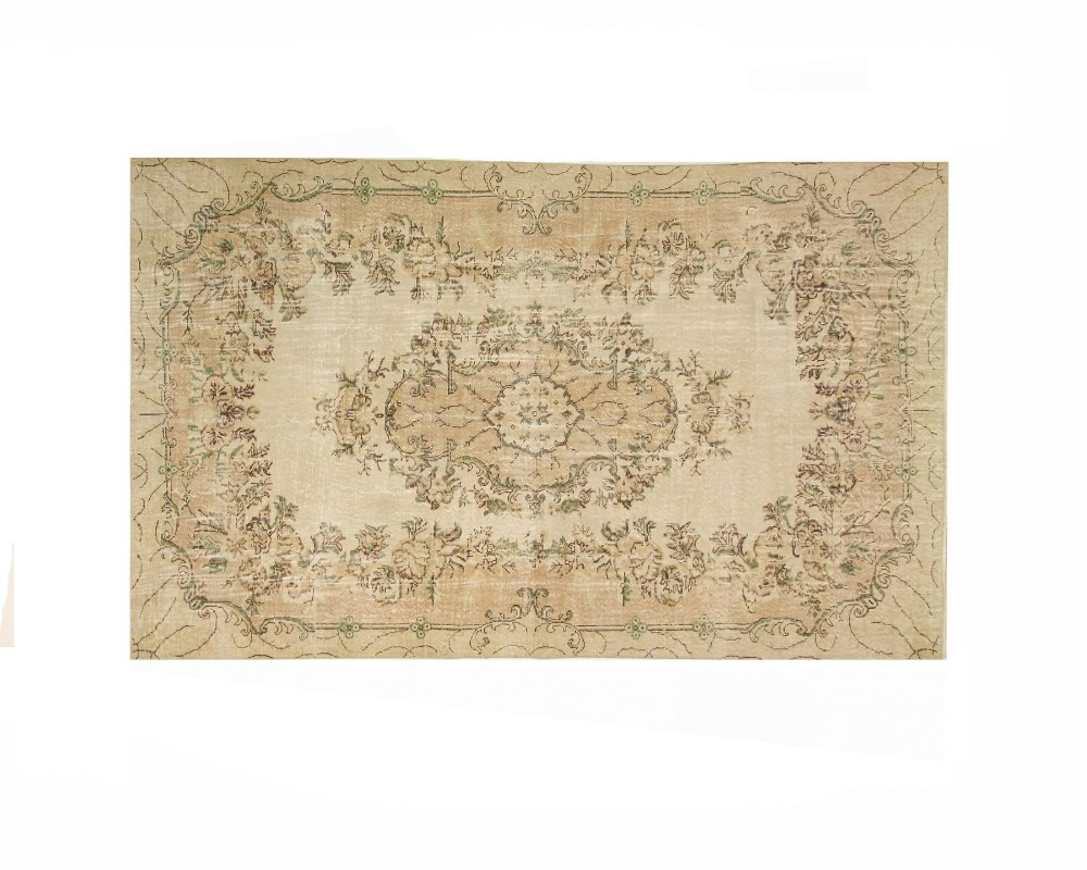 Handmade Turkish Vintage Overdyed Rug