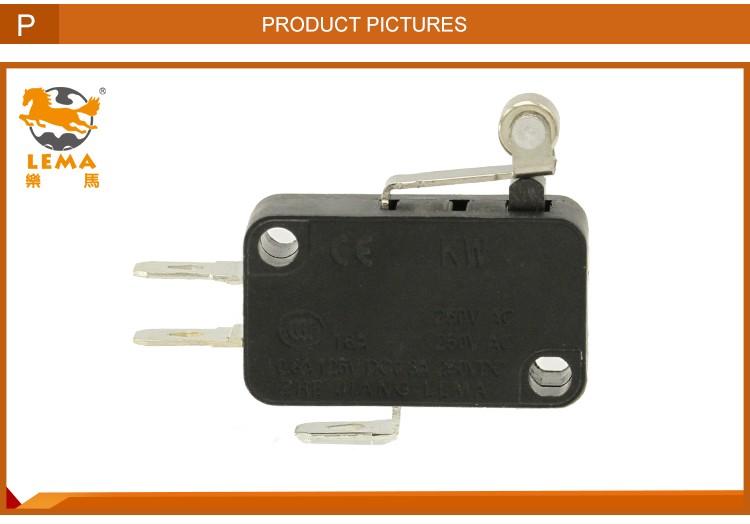 KW7-3 electrical lever pin plunger actuator micro switch