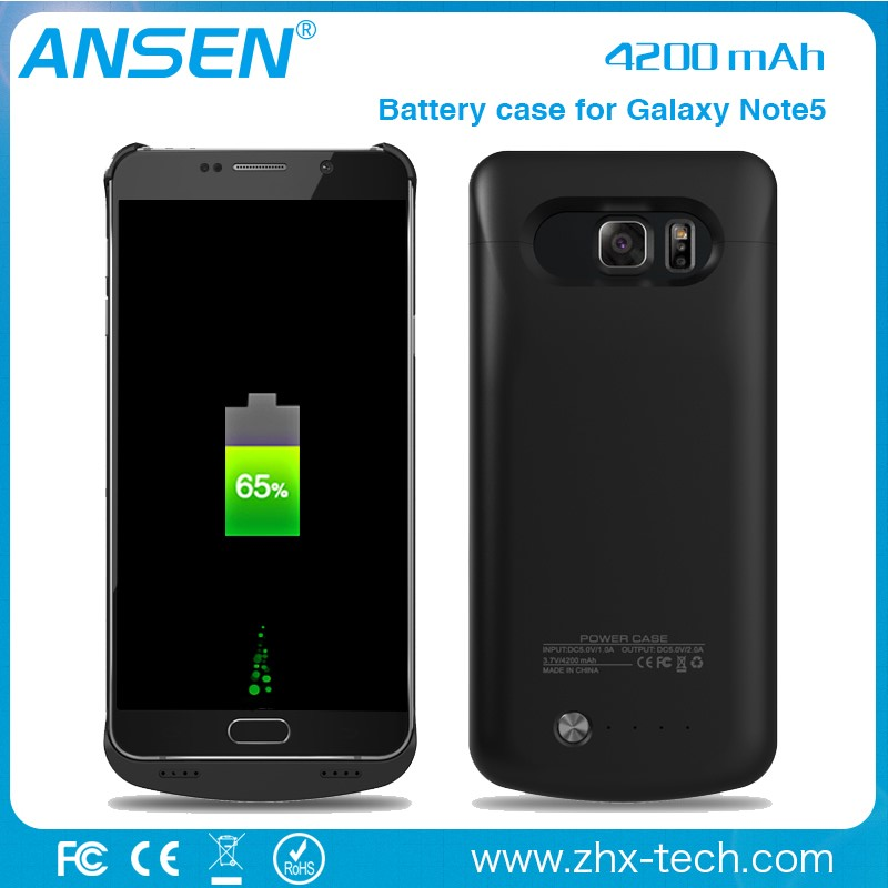 shenzhen electronic accessories note5 extended battery case over Backup Battery Charger Case For samsung mobile phone case