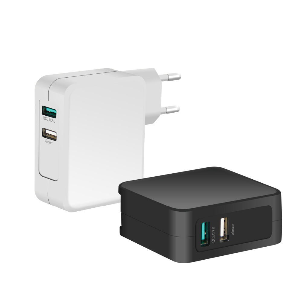 Factory supply QC3.0 Dual wall USB charger