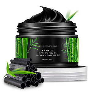 Bamboo Charcoal Blackhead Remover Deep Clean Purifying Peel Off Mud black facial mask