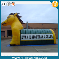 Bespoke Inflatable Horse Mascot Tunnel / inflatable sport tunnel