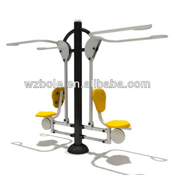 TUV/GS Approval Garden Galvanized Steel Tube Outdoor Gym Equipment for Adult Body Building