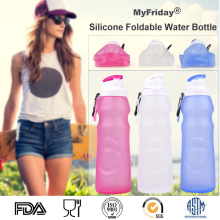 Rollable Medical Grade Silicone Drinking Canteen Reusable Personalized Water Bottles