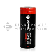 latest Efan IMR 26650 5500mah 60A 3.7V high discharge power battery flat top for special ecigs mods
