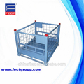 Industrial stackable welded steel transport wire mesh pallet boxes/Collapsible and stackable Welded Wire Metal Pallet