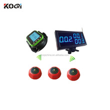Wireless Guest Paging Systems Portable Pagers Restaurant Pager Call Equipment K-4-CBlue+K-300plus-green+K-M