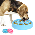 Creative slow food pet feeder plastic fun water and food cat and dog bowl