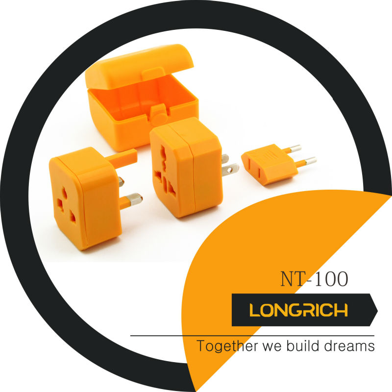 2013 LONGRICH HOT SALE travel plug With 6.3A Fuse Popular For Airline Promotion Gift(nt100)