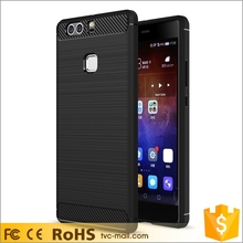 2016 Wholesales Phone Accessories Case Carbon Fibre Brushed Cell Phone Case for Huawei P9 Plus