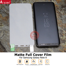 2017 New Born!!!OEM/ODM 3D Curved Full Cover Anti-glare Matte Screen Protector For Galaxy note8