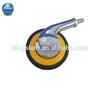 120mm ABS +Zinc alloy yellow singe castor wheel, office chair plastic wheels