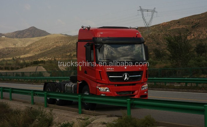 China Trucks Top Brand BEIBEN V3 420hp 6x4 Tractor Head Truck For High Land