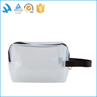 Clear PVC tote cosmetic toiletry bag