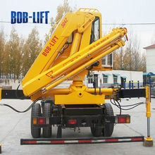 Hot sale SQ4ZA2 4 ton 7m knuckle boom hydraulic pump truck hoist crane machines for sales