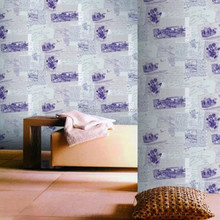 artistic wallpaper/charming Purple wallpaper/American style wallpaper