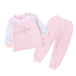 Wholesale Children Pajamas Clothing Set Frock Designs Pink Girl Child Clothes