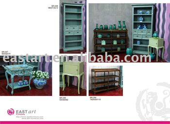 European style furniture cabinet with table