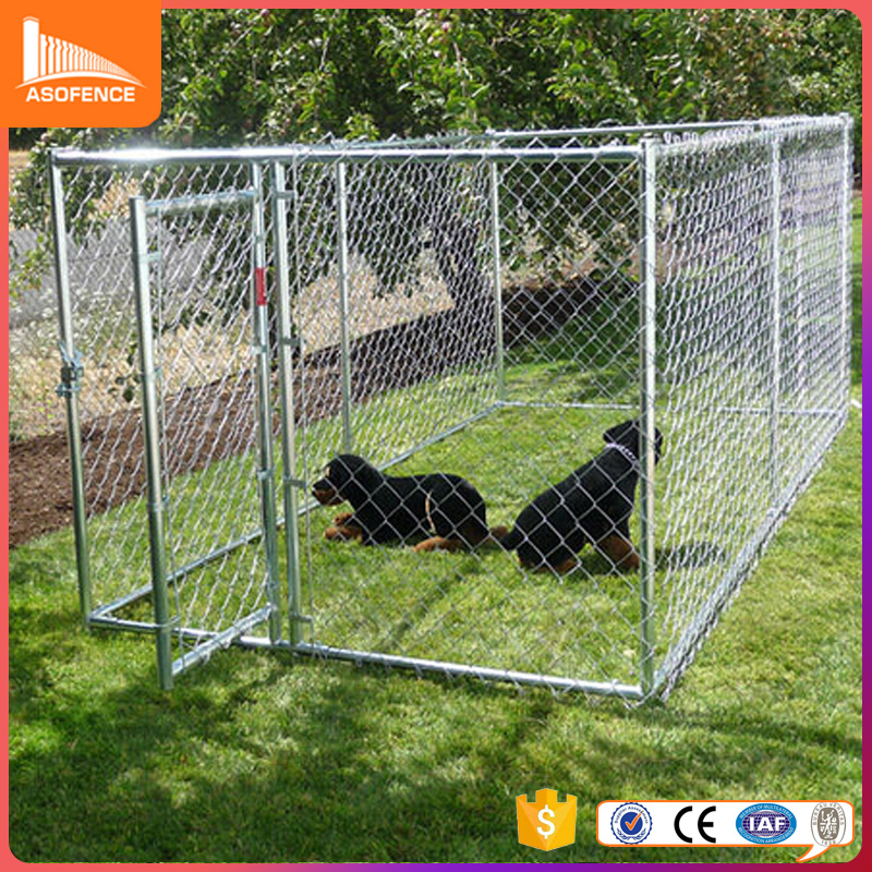 wholesale large chain link iron fence cheap dog kennels