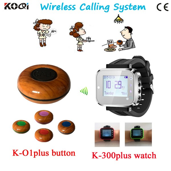 Restaurant Customer Call Button Remote Control Call Bell KOQI 2015 New Arrival Wireless Waiter Call System