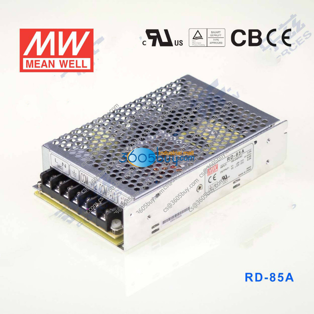 RD-85A 88W +5V8A +12V4A dual MeanWell power supply