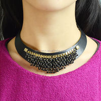 Fashion Jewelry 2016 New Black Color Torques Vintage Collar Necklace For Women