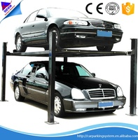 garage equipment pit basement parking lift 4 post car parking system