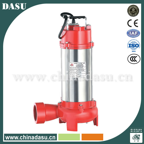 1300w Submersible Sewage Dirty Waste Water Pump With Cutter Shredder