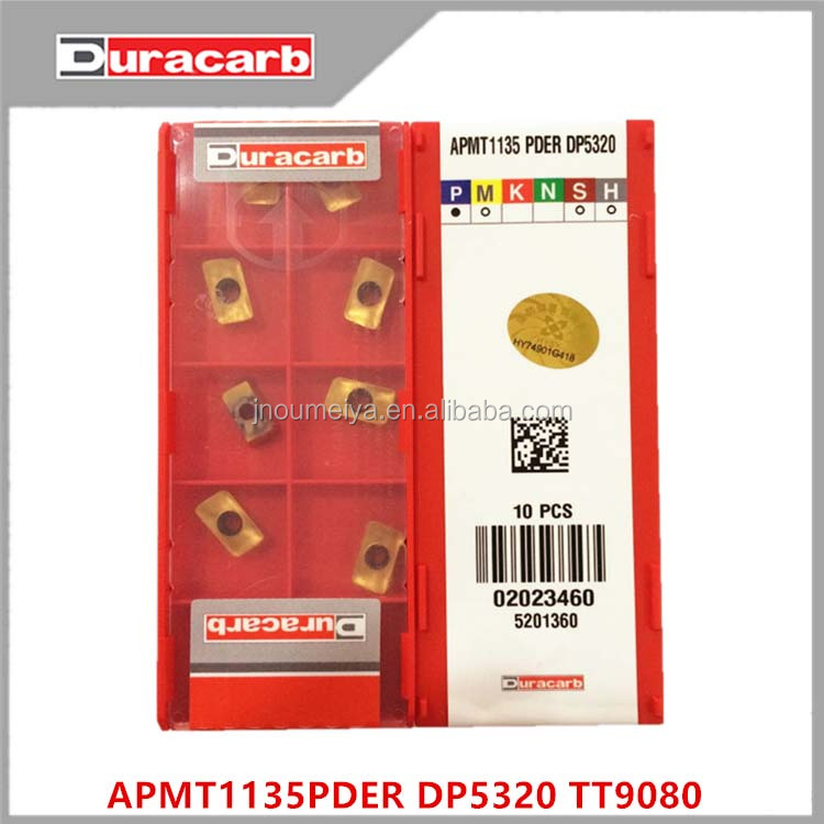Yellow coating cnc milling inserts Duracarb tungsten carbide insert APMT 1135 PDER DP5320