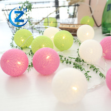 Waterproof new design popular design christmas chain fairy outdoor color changing battery usb powered cotton ball string light