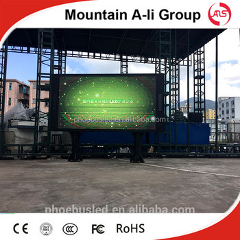 outdoor fixed installation IP65 P6 DIP 3in1 full color LED dispaly screen /LED video wall