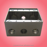 2 gang junction box/TGB75-4 with 2 inch depth,3/4in,4 holes