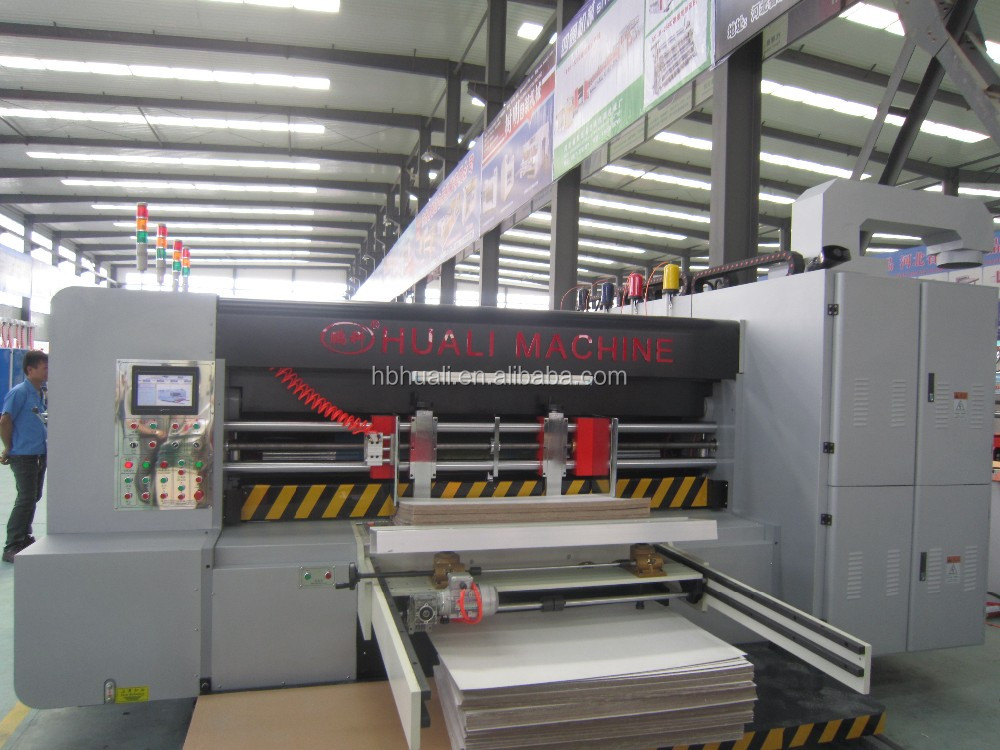corrugated cardboard carton box high speed flexographic printing machine for packaging machine for sale