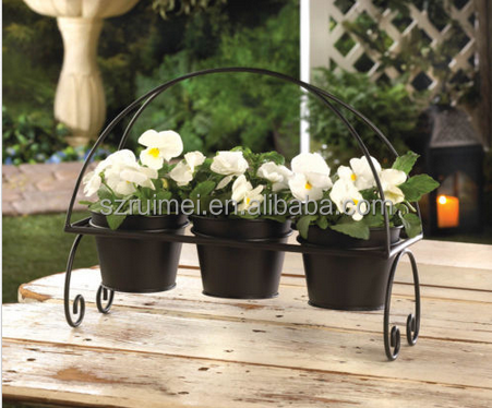 Practical Metal Hanging Flower Pot Stand For Retail Store