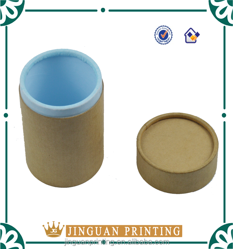 Professional customized paper board tea packaging round tube box