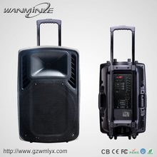 Commercial Plastic Sound Speaker Boxes Cheap 12inch Speaker Amplifier with FM Big Power Professional Stage Sound System